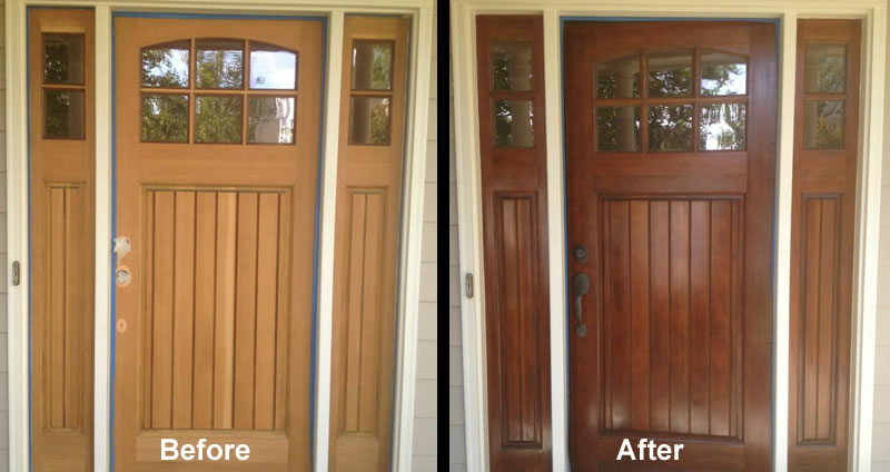 Front Door Repainting Charlotte North Carolina.